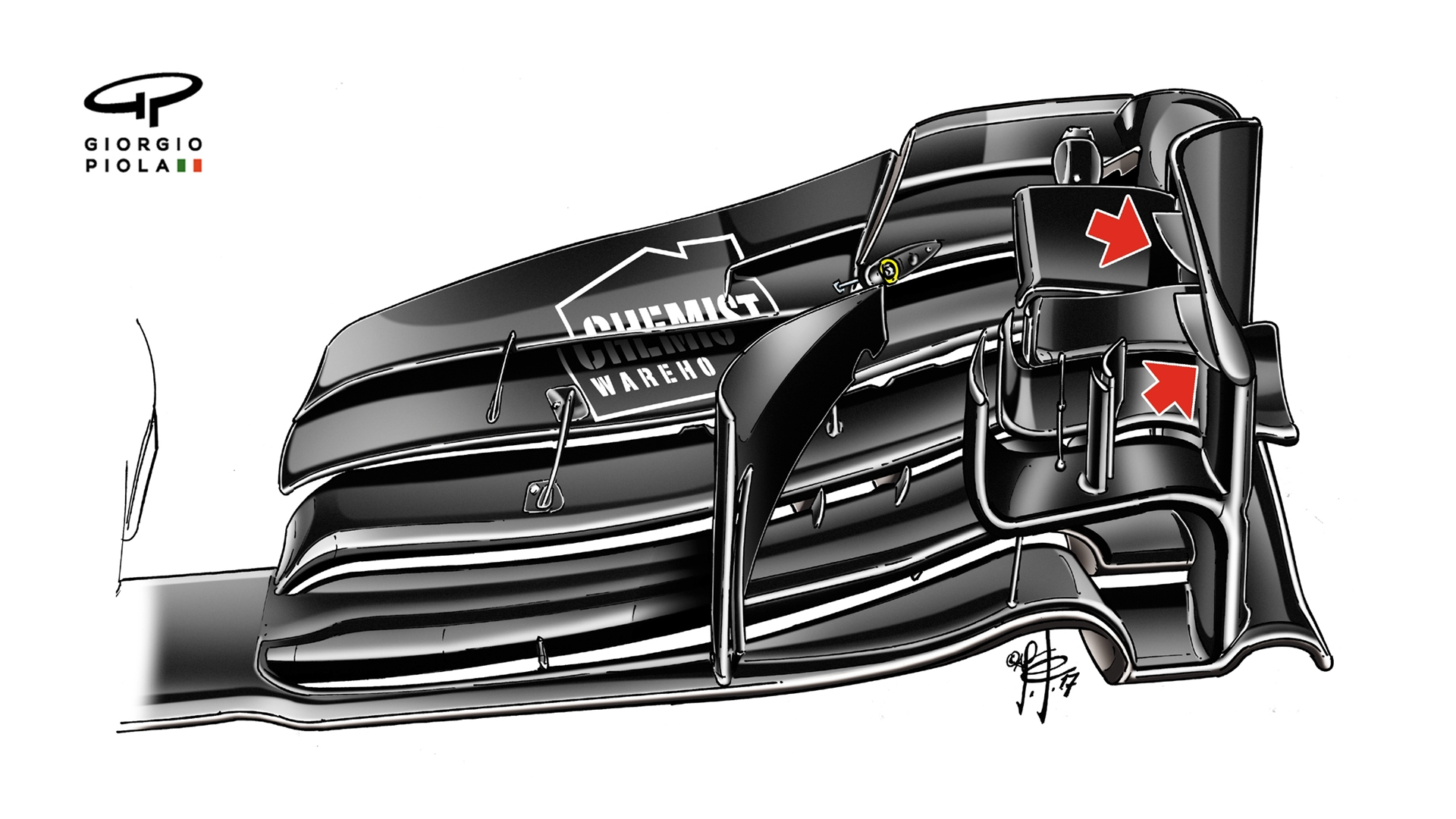 Chassis design of f1 car -  The Efficiency Of The Airflow In This Critical Part Of The Chassis Expect To See A Lot Of Similar Refinements In This Area On Other Cars This Season