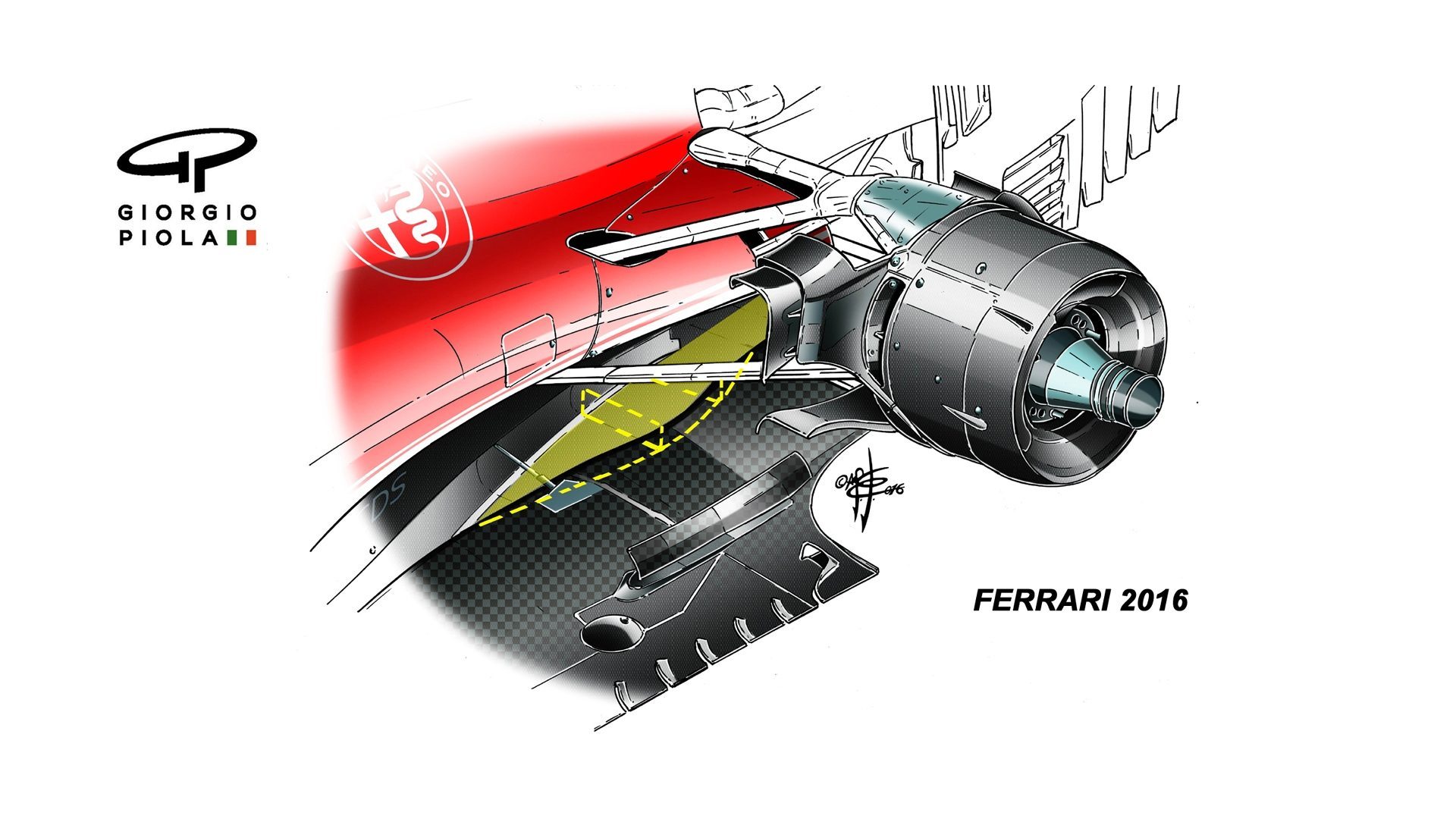 F1 Ferraris Nyserace New Racer A Close Look Live Trading News Diagram Of Downforce Generated By Raked Underbody From Y 2016 Onward Ferrari Has Used An Extreme Coke Bottle Shape And Airflow Channel To Improve Flow The Rear Car Down Force Generating