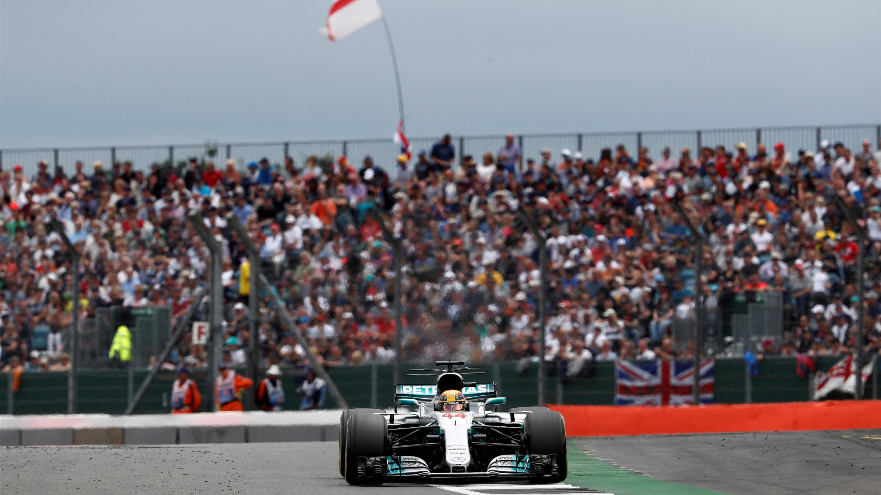 Hertfordshire's Lewis Hamilton in practice for French F1 Grand Prix